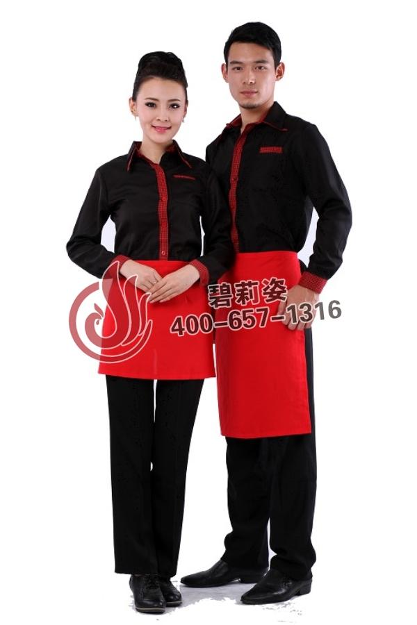 酒店男女服务员服装图